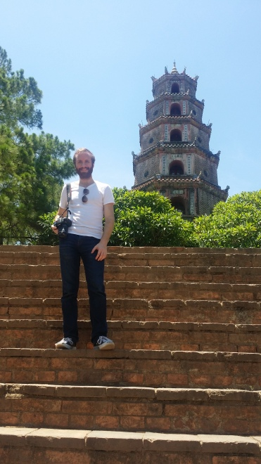 Jonathan at the Pagoda of the Celestial Lady